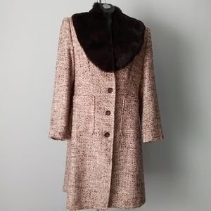 NWOT-Designer Dress Coat (detachable fur)